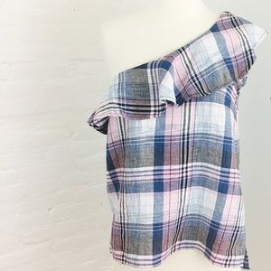 Cloth & Stone One Shoulder Ruffle Top