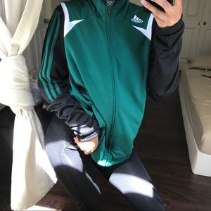 Black and green soccer jacket