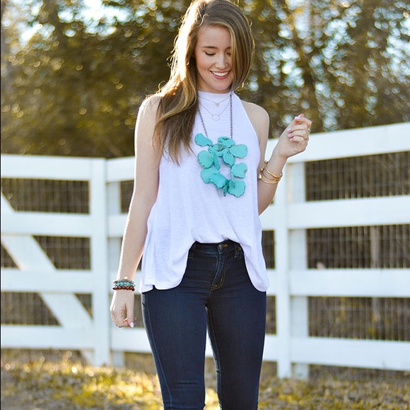 Free People Tops - Free People white ribbed tank