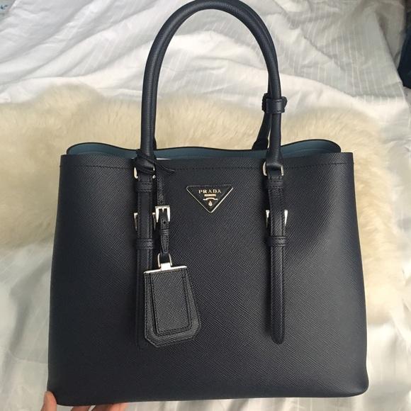 902f99942a6d Prada Bags | Authentic New Saffiano Double Tote Handbag | Poshmark
