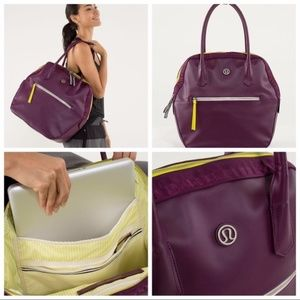 Lululemon Happy Hatha Hour Bag in Plum