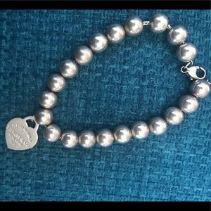 Tiffany & Co Silver Bead Tennis Bracelet