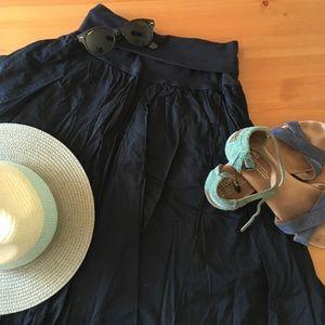 Flowey mist skirt in dark blue