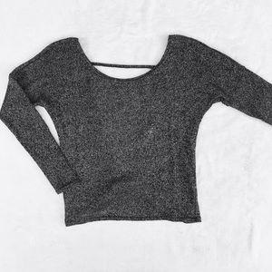 hamal + skye Open Back Sweater