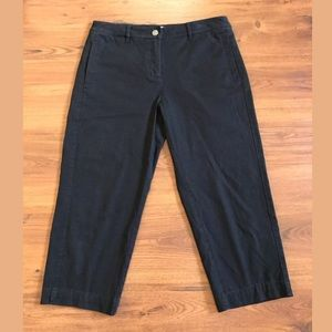 Women's Eileen Fisher Black Chino Crops Size Small
