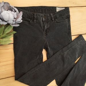 Allsaints Spitalfield Faded Black Skinny Jeans 27