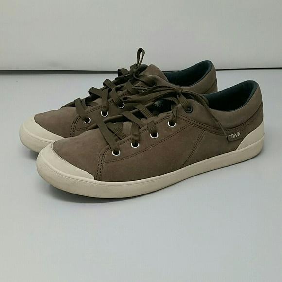 Womens Teva Freewheel Suede Sneaker