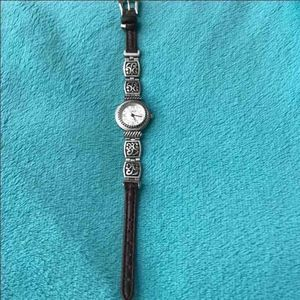 Accessories - Watch BRT-1Geneva Stainless Steel Watch Brown Band