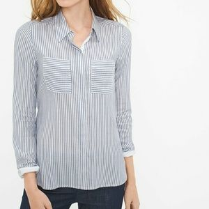 WHBM Striped Button Up Shirt