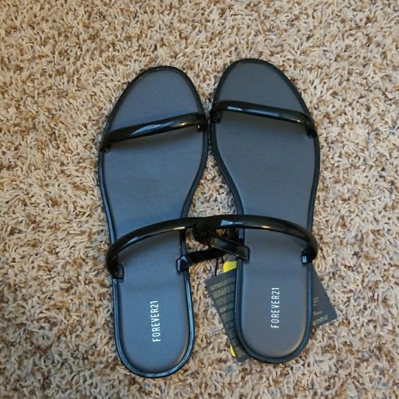 ea7a3c60e04b8 Forever 21 Two-Strap Jelly Sandals