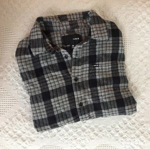 Hurley Black & Grey Flannel Shirt