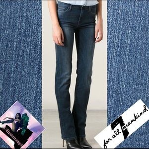 7 For All Mankind High Waisted Straight Leg 29