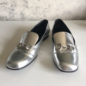 07b143808 Gucci Shoes | Kira Silver Loafers | Poshmark
