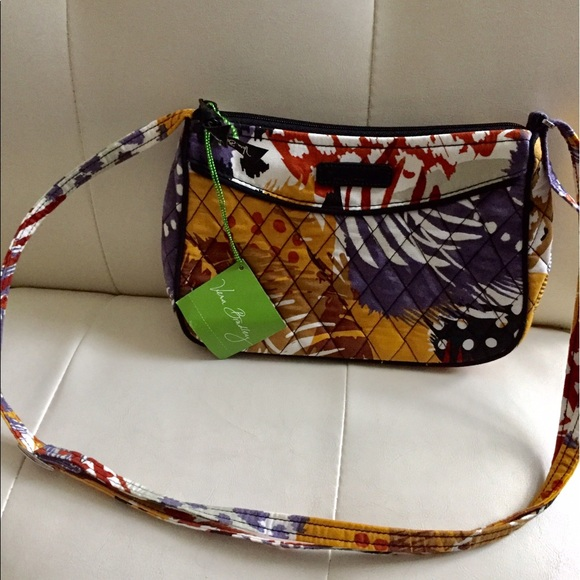 614e25974e9f Vera Bradley Little Crossbody in Painted Feathers