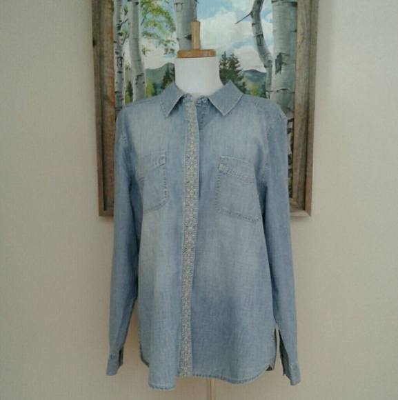 Chicos Denim Blouse 55