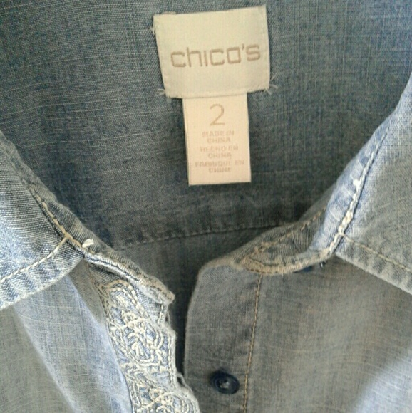 Chicos Denim Blouse 23