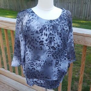 Dressbarn leopard print tunic (M)