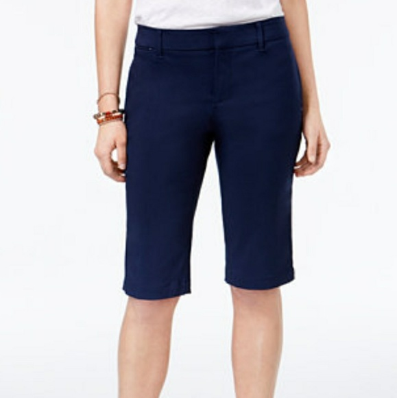 78% off Talbots Pants - Talbots Navy Blue Bermuda Walking Shorts ...