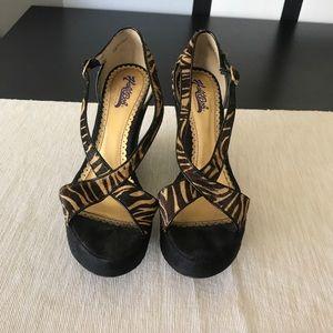 HaleBob Wedge Platform Sandals