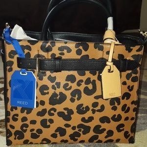 REED cheetah print shoulder/crossbody & handbag