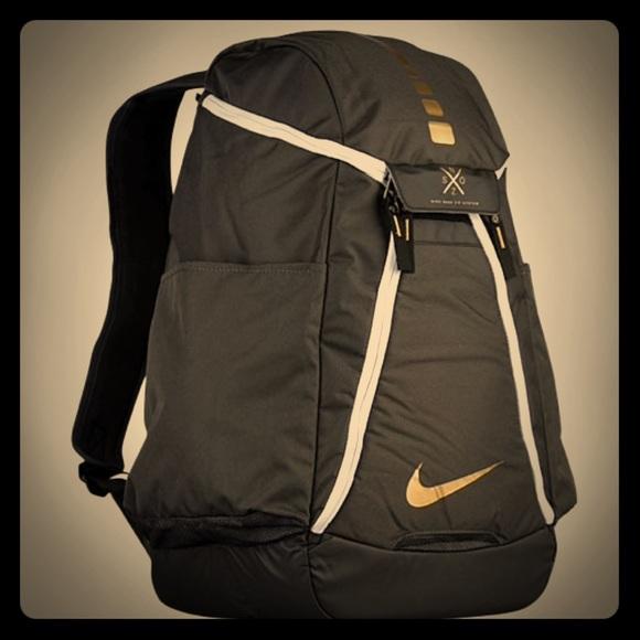 8e6cde5e6b Nike elite 2017 edition backpack black and gold