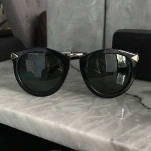 "Karen Walker ""Harvest"" blk&gold sunglasses"