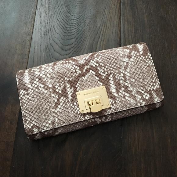 c2805a60c949ce Michael Kors Bags   New Astrid Carryall Wallet Sand   Poshmark