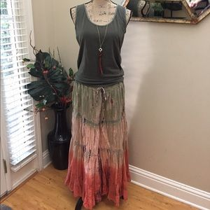 Dresses & Skirts - 🌿Boutique purchased tie dye maxi skirt!