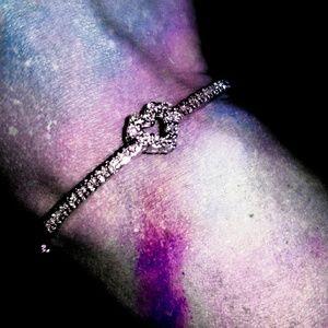 Jewelry - 💎White Topaz💎Sterling 925 Silver Heart Bracelet
