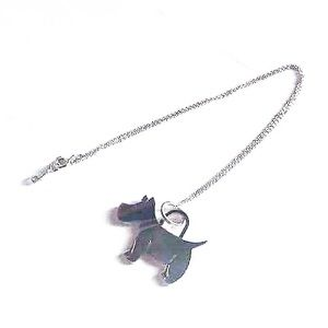 Authentic Tiffany 925 Rare  Dog Charm Necklace