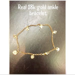Jewelry - 18k solid gold ankle bracelet new with out tag