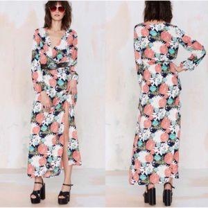 Nasty Gal Dee Elle Ella floral maxi dress