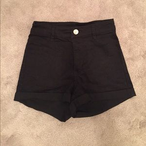 Black super high waisted shorts