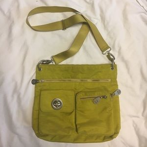 Baggallini Purse, Large Green Nylon Crossbody