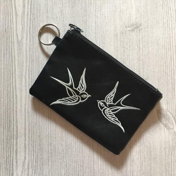 5ff38ebb678998 Lavichy Handbags - Black Pair of Swallows Coin Purse | Lavichy