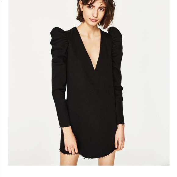 f1250894 Zara Dresses | Denim Dress With Full Shoulders | Poshmark