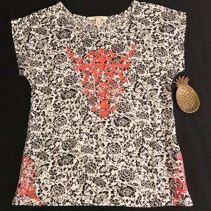 Francesca's miami floral blouse