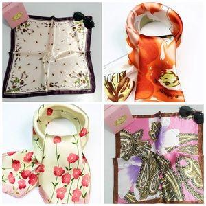 Accessories - Silk Look Satin Ladies Scarf, 20 x 20 - Various