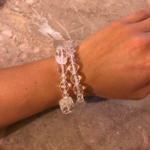 Jewelry - Set of Two Crystal Bracelets