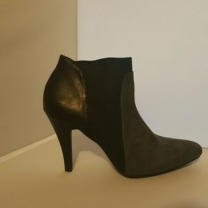 Shoes - Two Tone Suede Bootie
