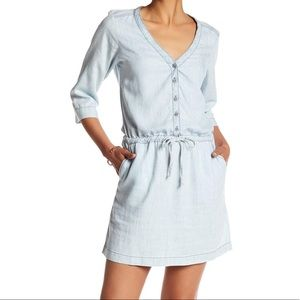MICHAEL STARS Blue Shirt Dress