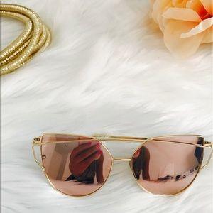 86f5cc9abc8c Accessories - Trendy cat eye metal pink frame sunglasses