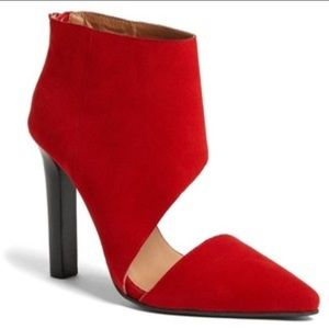 Jeffrey Campbell red suede Barnes booties NWT 8