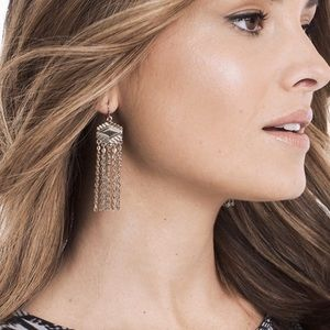 Jewelry - CONCHO CHAIN DROP EARRINGS
