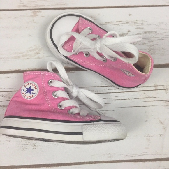2a69752bb87d Converse Other - Converse All Star Baby Shoes Pink Canvas High Tops