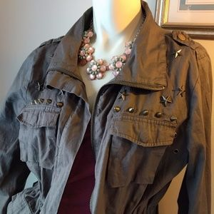 Embellished Irish Army Fatigue Jacket