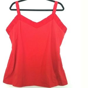 Apostrophe 16/18W Red Tank Top - New with Tag
