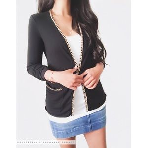 Gold Chain Lined Cardigan