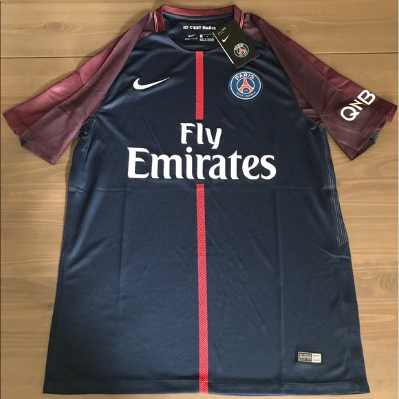 new style 8426c df073 PSG soccer jersey Nike no name no number 17/18 NWT