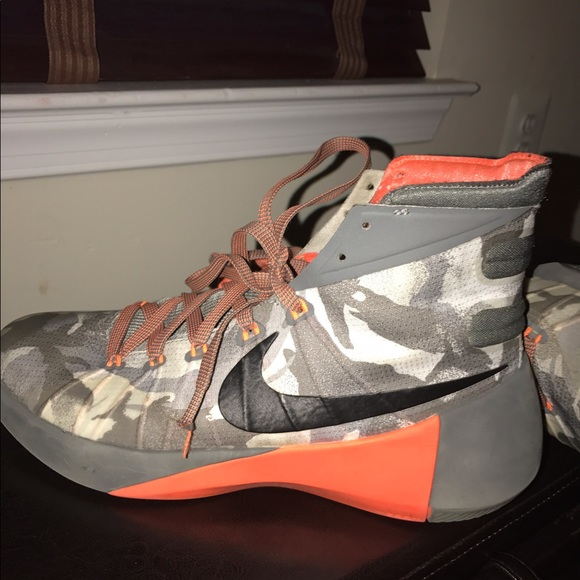 d9a4279e5c061 Nike Shoes | Hyperdunk Camo Orange Mens Size 9 | Poshmark